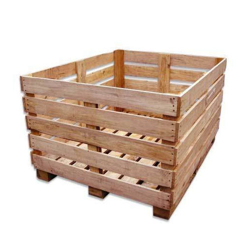 Square Rubber Wooden Crate