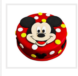 Mickey Mouse Face Cake At Rs 1299 Piece क्रीम केक Kc