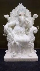 White Marble Lord Ganesha Statue