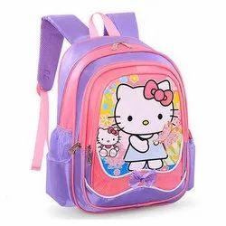 Matty Purple and Pink Designer Printed Kids School Bag