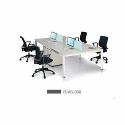 4 Seater Modular Office Workstation