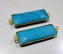 Turquoise Magnesite Baguette Shape Briolette Connector
