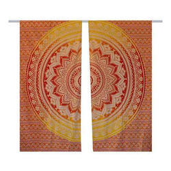 Mandala Window Cotton Curtain