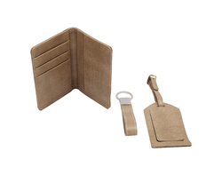 Leather Travel Accessories Set