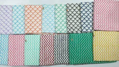 Block Printed Zig Zag Striped Fabric