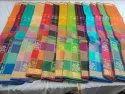 10 Colours Silk Cotton Sarees, With Blouse Piece, 5.5 M (separate Blouse Piece)