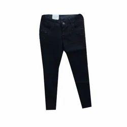 Ladies Black Stretchable Denim Jeans, Size: 30