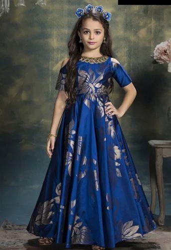 36bc5df89c Silk Kid's Wear Gown, किड्स गाउन - Roykals Textile, Surat ...