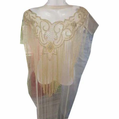 e8105c3e983134 Unstitched Net Beaded Lace Blouse, Size: 1.5 Meter, Rs 1300 /piece ...