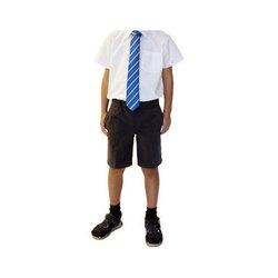 Cotton Shirt, Shorts And Tie Boys School Uniform, Packaging Type: Box, S-XXL