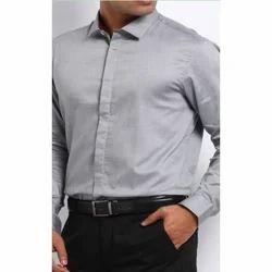 Grey Regular Fit Men's Formal Shirt