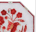 Indian Marble Inlay Table Top , Pietra Dura Marble Table Top