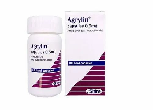 Agrylin (Anagrelide) Capsule, Treatment: Blood Cell Disorder, | ID:  22276678430