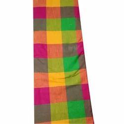 Checked Handloom Cotton Fabric
