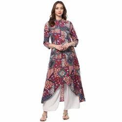 a45353adef Semi-Stitched Glace Cotton Kurti With Ghagara, Rs 930 /piece | ID ...