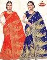 Georgette Embroidery & Diamond Work Saree - Suhana