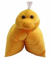Yellow Duck Stuffed Soft Toy Cushion Pillow For Boy, Girl
