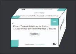 Aceclofenac (SR)200mg   Rabeprazole 20mg Cap