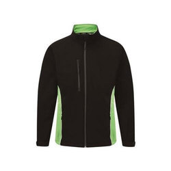 Large And XL Faux Leather Two Tone Softshell Jacket