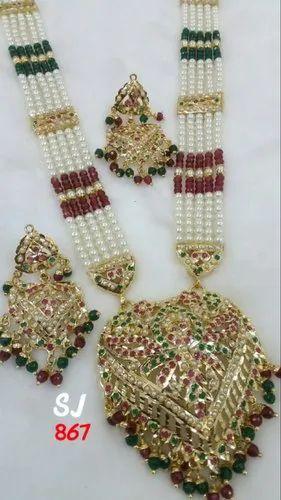 e04c3c5e3 SJ Jadau Necklace Jewellery, Rs 290 /set, Shyam Jewellers | ID ...