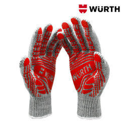 Polyvinyl Chloride Full Finger Wuerth Knitted Protective Glove