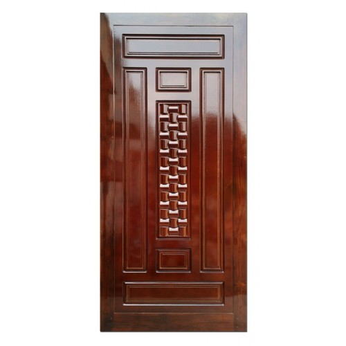 Finished Teak Wood Membrane Designer Door, For Home