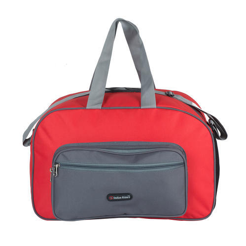Indian Riders Polyester duffle travel bag for short trip-red   grey-(irdb 4a40754b3a676