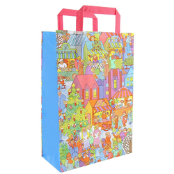 Multicolor Plain, Printed Bulk Packaging Shopping Bags