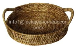 Leela Jee Home Decor Antique Cane Polisj Cane Tray