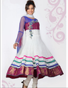 Ladies Party Wear White Salwar