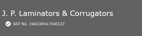 J. P. Laminators & Corrugators