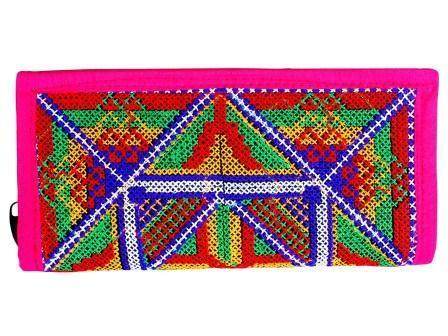 Pink Paradox Ladies Clutch Indian Traditional Hand Women Wallet