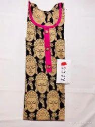 Ethnic Printed Cotton Kurti - Daily Wear Cotton Kurti - Block Printed Kurta