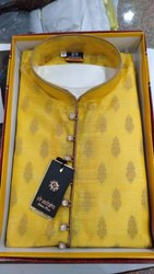 Yellow Designer Kurta Pajama