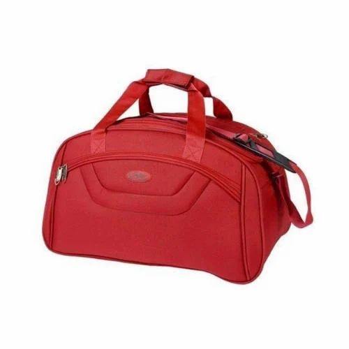 Red Plain Luggage Duffle Bag 0a88d93e79a13