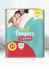 Cotton Pant Diapers Baby Dry Pampers, Age Group: Newly Born, Packaging Size: 38