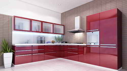 Glossy Modular Kitchen At Rs 2500 Square Feet A M F Home Centre
