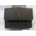 Men Black Buffalo Leather Office Bag