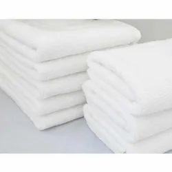 MSJ Clothings White Terry Bath Towel, 450-550 GSM