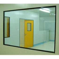 Glossy Glass Clean Room Flush Window, Size/Dimension: 4x3 Feet
