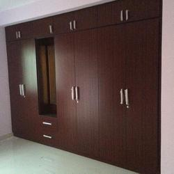 6 Feet Modular Wooden Wardrobe