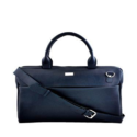 Blue Synthetic Leather Laptop Bag