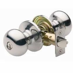 Brass Round Knob Door Lock, Stainless Steel