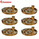 Choozee - Copper Thali Set of 6 (48 Pcs) Thali, Bowl, Spoon & Glass