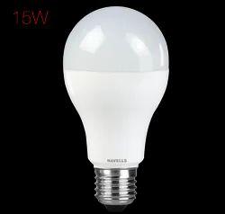 Warm White Havells Adore 15 W LED Bulb, Base Type: B22