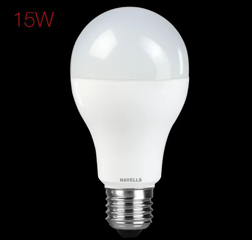 Warm White Havells Adore 15 W LED Bulb, Base Type: B22