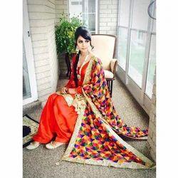 Cotton Unstitched Punjabi Suits