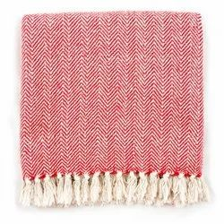 Cotton Throw Blanket with Fringe