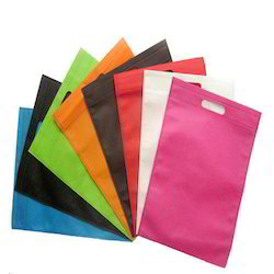 White & Red Non Woven Carry Bags, Bag Size: 8 X 10 - 18 X 20 Inch