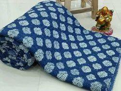 Indigo Kantha Jaipuri Quilt